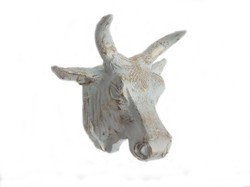 Metal Cow Head Statue Large Wall Mount Sculpture