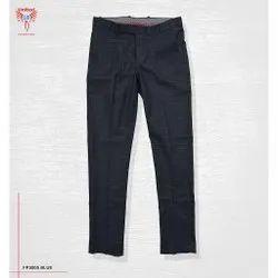 Regular Fit Plain & Checked Formal Pants, Handwash