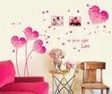 Pvc Vinyl Love Heart Shape Wall Decor Love Heart Sticker 50x70
