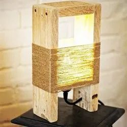 CFL Handmade Wooden Table Lamp