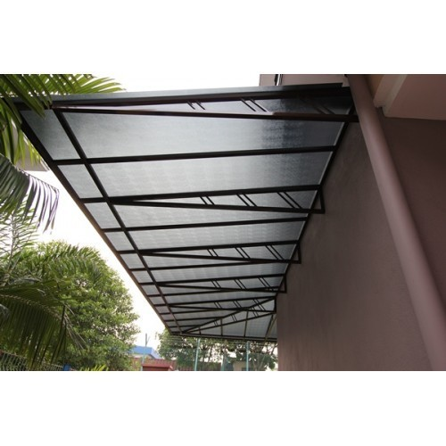 Mild Steel Frame Awning At Rs 135 Square Feet Fixed