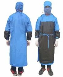 Surgeon Gown Cotton Blue