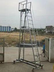 Aluminium Cantilever Rolling Ladder