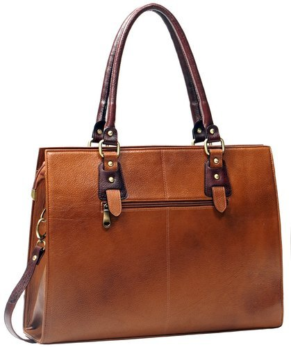 b02af1302b67 Brown Plain Ladies Leather Tote Bag