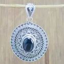925 Sterling Silver Jewelry Rainbow Moonstone Oxidized Pendant