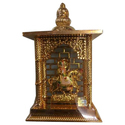 Plastic Gold Plated God Temple, Packaging Type: Box