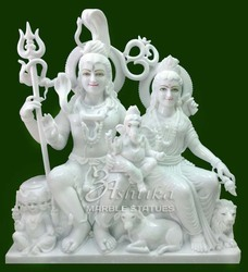 Shiva Parvati Stone Statue