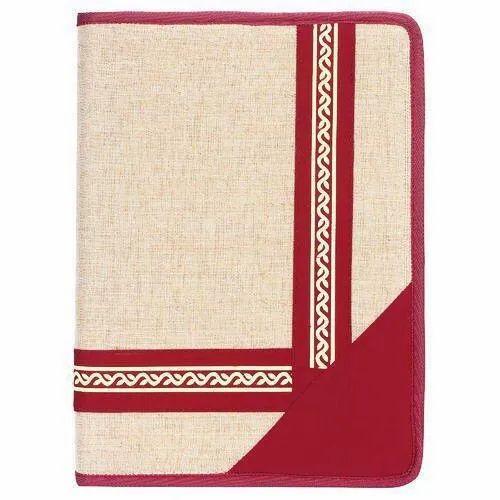 Red Eco Jute Folder