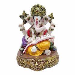 Marble Look Shri Ganesha Reading Holy Book Idol Gift Item