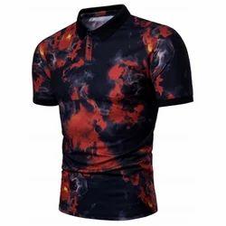 Smog Print Short Sleeve Polo T-shirt