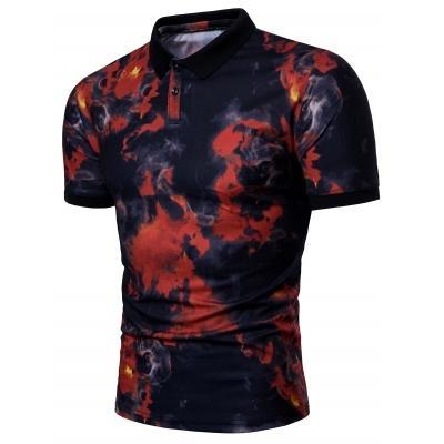 425e96fc Smog Print Short Sleeve Polo T-shirt, प्रिंटेड पोलो टी ...