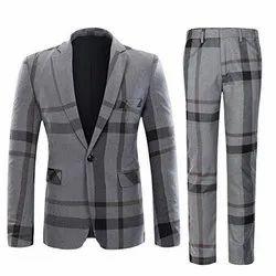 Striped Mens Cotton Formal Suit, Size: S-XL