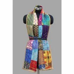 Kantha Silk Embroidered Stole