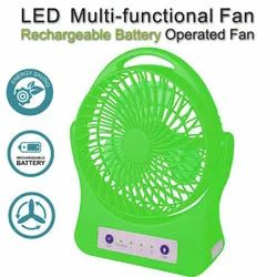 Pick Ur Needs Rocklight Portable High Low Speed Rechargeable Table Fan with LED Flash Light
