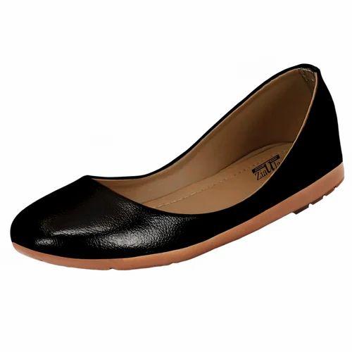 Polyurethane Formal Ladies Black Flat