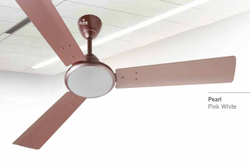 Pearl Pink White Ceiling Fan