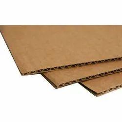 Brown 3 Ply Corrugated Board