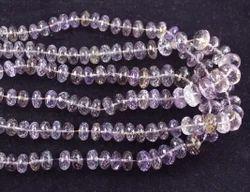 Ametrine Faceted Roundel Shape Beads