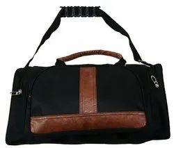 Black Coated Travel Duffel Bag