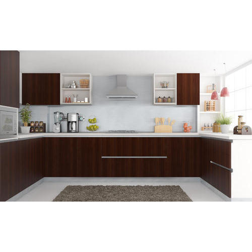 U Shape Wpc Modular Kitchen 6x9 Ft Rs 180000 Piece