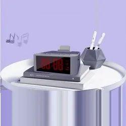 Acrylic - Hard Plastic Elegant Mobile Stand Desktop Speaker Clock, Standard, Model Name/Number: Clocky