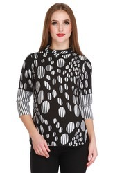 Cottinfab Women's Casual Polka Printed Top (DSS9130D)