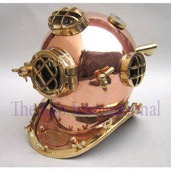 Nautical Diving Helmet Copper Metal Large Size