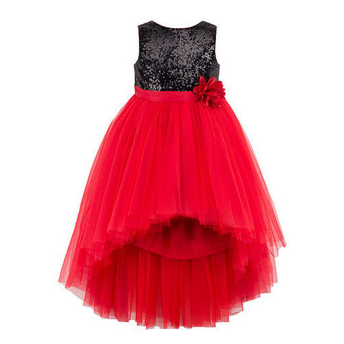 Kids Sleeveless Red And Black Party Dress Age 5 7 Years Rs 570