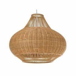 Brown Rattan Hanging Lamp