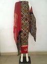 Casual Wear Cotton Regular Unstitched Batik Salwar Suit, Handwash