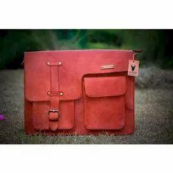 Goat Leather Brown Messenger Bag