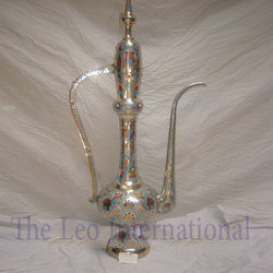 Decorative Mughlai Brass Teapot Large Size Aftaba