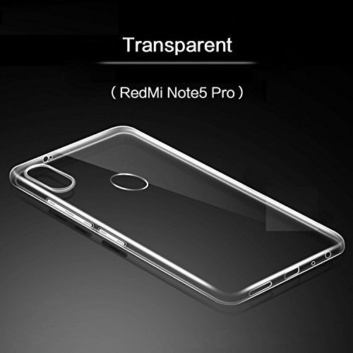online store ed2e1 be365 Redmi Note 5 Pro Transparent Back Cover