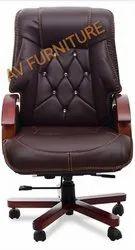 High Back Brown Boss Executive Chair, Size: Standard