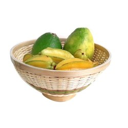 Round Bamboo Large Fruit Basket, 300 G