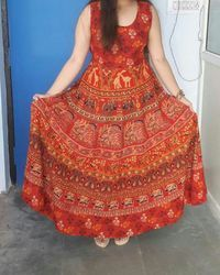 Jaipuri Cotton Long Maxi Dress