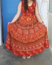 Jaipuri Cotton Long Maxi Dress