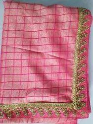 Georgette Border Vichitra Saree