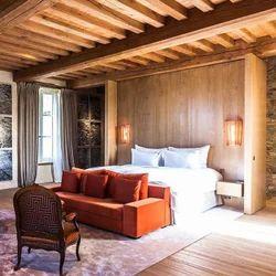 Wooden & Concrete Guest House Interior Design