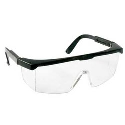Black, Transparent Industrial Protective Goggles, Packaging Type: Box