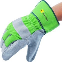 Hamee Leather Made Heavy Duty Multipurpose Industrial Safety Gloves - All-Season, Size: Free Size
