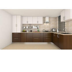 Modular Kitchen - Fancy L Shaped Modular Kitchen