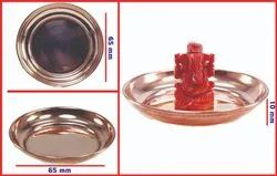 Coral Ganesh with Copper Pooja Plate