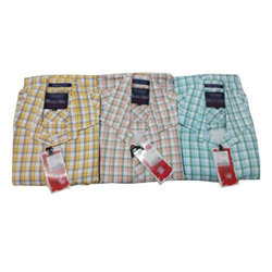 Men's Cotton Check Casual Shirt, Size: S to XXL