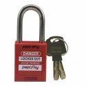 Red For Locking Ps-loto-ppr-38 Lockout Padlock, Padlock Size: 38 Mm