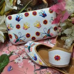 Butterfly Designer Jutti and Matching Clutch