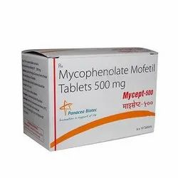 Mycept 500 Mycophenolate Mofetil Tablet