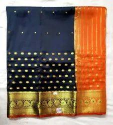 Mama Collection 6.3 m (with blouse piece) Banarasi Saree