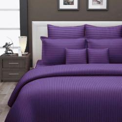 Plain Satin Stripe Bed Sheet