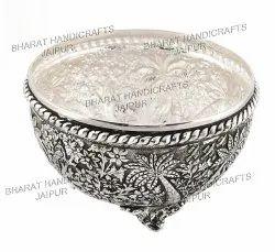 Metal Round Fruit Bowl